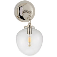 Visual Comfort TOB2225PN/G2-CG Thomas O'Brien Katie 1 Light 7 inch Polished Nickel Decorative Wall Light in Clear Glass