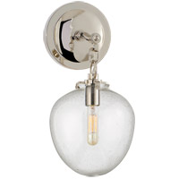 Visual Comfort TOB2225PN/G2-SG Thomas O'Brien Katie 1 Light 7 inch Polished Nickel Decorative Wall Light in Seeded Glass