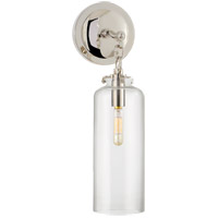Visual Comfort TOB2225PN/G3-CG Thomas O'Brien Katie 1 Light 5 inch Polished Nickel Decorative Wall Light in Clear Glass