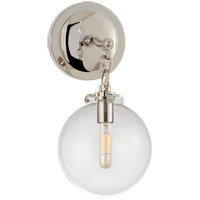 Visual Comfort TOB2225PN/G4-CG Thomas O'Brien Katie 1 Light 8 inch Polished Nickel Decorative Wall Light in Clear Glass