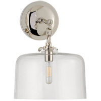 Visual Comfort Thomas OBrien Katie 1 Light Decorative Wall Light in Polished Nickel with Clear Glass Shade TOB2225PN/G5-CG