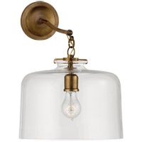 Thomas OBrien Katie 12 inch Hand-Rubbed Antique Brass Sconce Wall Light in Clear Glass, Thomas O''Brien, Large, Dome, Clear Glass