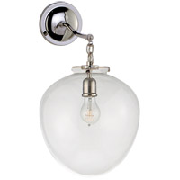 Visual Comfort Thomas OBrien Katie 10-inch Sconce in Polished Nickel, Large, Acorn, Clear Glass TOB2226PN/G2-CG