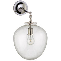 Visual Comfort Thomas OBrien Katie 10-inch Sconce in Polished Nickel, Large, Acorn, Seeded Glass TOB2226PN/G2-SG