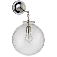 Visual Comfort Thomas OBrien Katie 12-inch Sconce in Polished Nickel, Large, Globe, Seeded Glass TOB2226PN/G4-SG