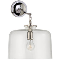 Visual Comfort Thomas OBrien Katie 12-inch Sconce in Polished Nickel, Large, Dome, Clear Glass TOB2226PN/G5-CG