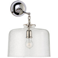 Visual Comfort Thomas OBrien Katie 12-inch Sconce in Polished Nickel, Large, Dome, Seeded Glass TOB2226PN/G5-SG