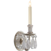 Visual Comfort Thomas OBrien Elizabeth 1 Light Decorative Wall Light in Burnished Silver Leaf TOB2235BSL
