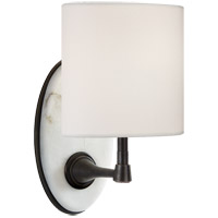 Visual Comfort TOB2242BZ/ALB-L Thomas OBrien Casper 1 Light 6 inch Bronze and Alabaster Sconce Wall Light, Small