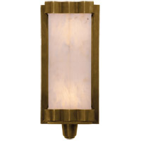 Visual Comfort Thomas OBrien Paulina 2 Light Decorative Wall Light in Hand-Rubbed Antique Brass with Alabaster Shade TOB2250HAB-ALB