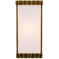 Visual Comfort TOB2252HAB-WG Thomas Obrien Paulina Zig Zag 1 Light 5 inch Hand-Rubbed Antique Brass Bath Wall Light