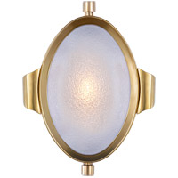 Visual Comfort Thomas OBrien Patrick 1 Light Swing-Arm Wall Light in Hand-Rubbed Antique Brass with Frosted Glass Shade TOB2261HAB-FG
