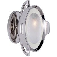 Visual Comfort Thomas OBrien Patrick 1 Light Swing-Arm Wall Light in Polished Nickel with Frosted Glass Shade TOB2261PN-FG