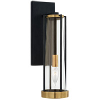 Visual Comfort TOB2275BZ/HAB-CG Thomas OBrien Calix 1 Light 5 inch Bronze and Brass Bracketed Bath Sconce Wall Light