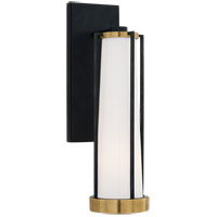 Visual Comfort TOB2275BZ/HAB-WG Thomas OBrien Calix LED 5 inch Bronze and Brass Bracketed Bath Sconce Wall Light