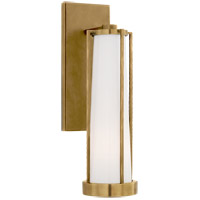 Visual Comfort TOB2275HAB-WG Thomas OBrien Calix LED 5 inch Hand-Rubbed Antique Brass Bracketed Bath Sconce Wall Light