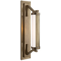 Visual Comfort Thomas OBrien Eclipse 1 Light Bath Wall Light in Hand-Rubbed Antique Brass TOB2300HAB