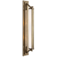 Visual Comfort Thomas OBrien Eclipse 2 Light Bath Wall Light in Hand-Rubbed Antique Brass TOB2301HAB