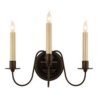 Visual Comfort Thomas OBrien Danny 3 Light Decorative Wall Light in Aged Iron with Wax TOB2311AI
