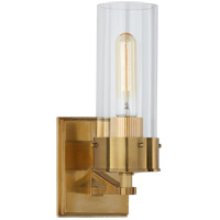 Visual Comfort TOB2314HAB-CG Thomas OBrien Marais 1 Light 4 inch Hand-Rubbed Antique Brass Bath Sconce Wall Light in Clear Glass Medium