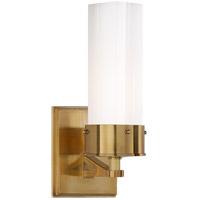 Visual Comfort TOB2314HAB-WG Thomas OBrien Marais 1 Light 4 inch Hand-Rubbed Antique Brass Bath Sconce Wall Light in White Glass Medium