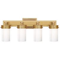Visual Comfort TOB2316HAB-WG Thomas OBrien Marais 4 Light 20 inch Hand-Rubbed Antique Brass Bath Wall Light in White Glass