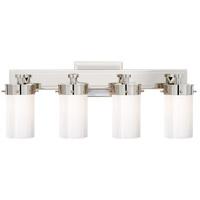Visual Comfort TOB2316PN-WG Thomas OBrien Marais 4 Light 20 inch Polished Nickel Bath Wall Light in White Glass