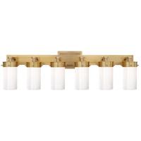 Visual Comfort TOB2317HAB-WG Thomas OBrien Marais 6 Light 13 inch Hand-Rubbed Antique Brass Bath Wall Light