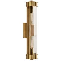 Visual Comfort TOB2318HAB-CG Thomas OBrien Marais 2 Light 4 inch Hand-Rubbed Antique Brass Bath Wall Light