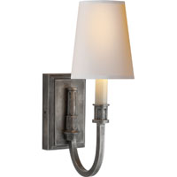 Thomas OBrien Library 1 Light 5 inch Sheffield Nickel Decorative Wall Light