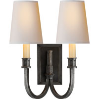 Visual Comfort Thomas OBrien Library 2 Light Decorative Wall Light in Bronze TOB2328BZ-NP