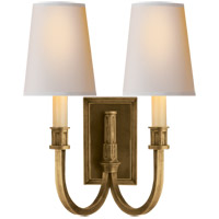 Visual Comfort TOB2328HAB-NP Thomas OBrien Modern Library 2 Light 12 inch Hand-Rubbed Antique Brass Decorative Wall Light