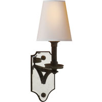Visual Comfort Thomas OBrien Verona 1 Light Decorative Wall Light in Weathered Iron TOB2330WI-NP