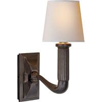 Visual Comfort Thomas OBrien Gallois 1 Light Decorative Wall Light in Bronze with Wax TOB2335BZ-NP