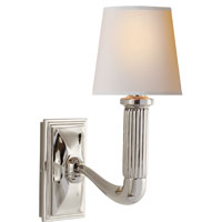 Visual Comfort Thomas OBrien Gallois 1 Light Decorative Wall Light in Polished Nickel TOB2335PN-NP