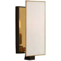 Visual Comfort TOB2340BZ/HAB-L Thomas O'Brien Albertine 1 Light 4 inch Bronze and Brass Sconce Wall Light, Petite