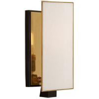 Visual Comfort TOB2340BZ/HAB-L Thomas OBrien Albertine 1 Light 4 inch Bronze and Brass Sconce Wall Light Petite