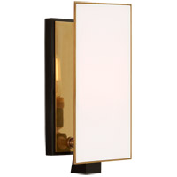 Visual Comfort TOB2340BZ/HAB-WG Thomas O'Brien Albertine 1 Light 4 inch Bronze and Brass Sconce Wall Light, Petite