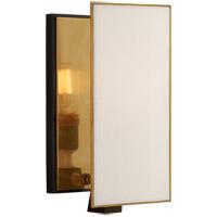 Visual Comfort TOB2341BZ/HAB-L Thomas OBrien Albertine 1 Light 6 inch Bronze and Brass Sconce Wall Light Small