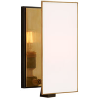 Visual Comfort TOB2341BZ/HAB-WG Thomas O'Brien Albertine 1 Light 6 inch Bronze and Brass Sconce Wall Light, Small