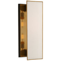 Visual Comfort TOB2342BZ/HAB-L Thomas O'Brien Albertine 2 Light 7 inch Bronze and Brass Sconce Wall Light, Medium