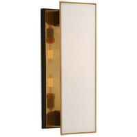 Visual Comfort TOB2342BZ/HAB-L Thomas OBrien Albertine 2 Light 7 inch Bronze and Brass Sconce Wall Light Medium