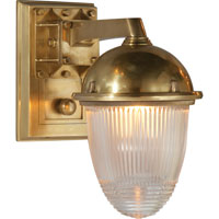Visual Comfort Thomas OBrien Garey 1 Light Bath Wall Light in Hand-Rubbed Antique Brass TOB2405HAB-CG