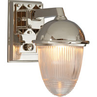 Visual Comfort Thomas OBrien Garey 1 Light Bath Wall Light in Polished Nickel TOB2405PN-CG