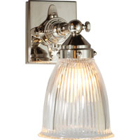Visual Comfort Thomas OBrien Garey 1 Light Bath Wall Light in Polished Nickel TOB2406PN-CG