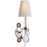 Visual Comfort Thomas Obrien Yves 9 inch 40 watt Gilded Iron and Crystal Swing-Arm Wall Light TOB2470GI/CG-PL - Open Box