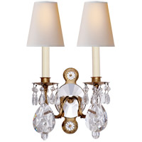 Thomas OBrien Yves 9 inch 40 watt Gilded Iron and Crystal Swing-Arm Wall Light