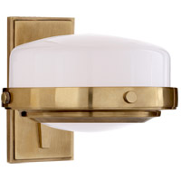Visual Comfort TOB2511HAB-WG Thomas O'Brien Connor 1 Light 8 inch Hand-Rubbed Antique Brass Bath Sconce Wall Light