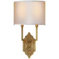Visual Comfort TOB2600HAB-NP Thomas Obrien Silhouette 2 Light 9 inch Hand-Rubbed Antique Brass Decorative Wall Light