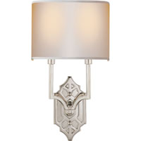 Visual Comfort Thomas OBrien Silhouette 2 Light Decorative Wall Light in Polished Nickel TOB2600PN-NP